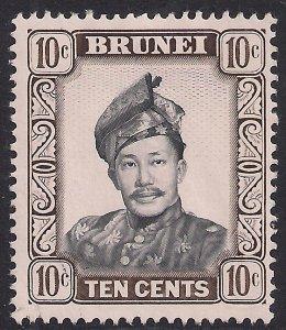Brunei 1964 - 72 QE2 10ct Sultan Omar MNG SG 124a ( F692 )