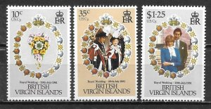 Virgin Islands 406-8 Diana Wedding set MNH (lib)