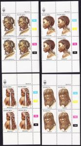 SWA Traditional Hair dresses 4v Blocks of 4 with Control Numbers and margins