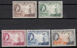 Northern Rhodesia -1953 QEII Victoria Falls Sc# 54/58 - MH (593)