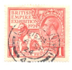 Great Britain Sc 203 1924 1d Empire Exhibition stamp used
