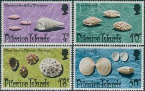 Pitcairn Islands 1974 SG147-150 Shells set MNH