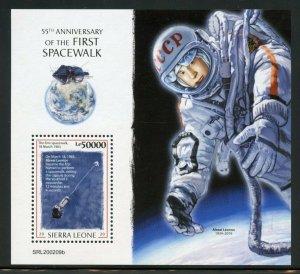 SIERRA LEONE 2020 55th ANN OF THE FIRST SPACE WALK ALEXEI LEONOV S/S MINT NH