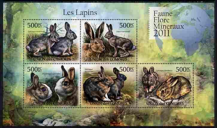 Comoro Islands MNH S/S Rabbits 2011