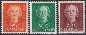 Netherlands #316-8  F-VF Unused CV $22.55 (Z8146)