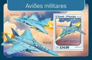 St Thomas - 2019 Military Planes - Stamp Souvenir Sheet - ST190111b