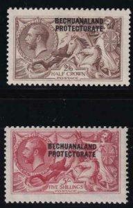 Bechuanaland Protectorate 1920-1923 SC 94-95 MLH SCV $240.00 Set