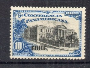 Chile 1923 Pan America Issue Mint hinged Shade of 10c. NW-13093