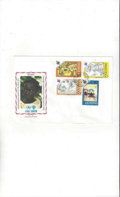 Guyana FDC International Year of the Child 1979 Official Cachet