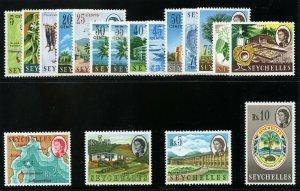 Seychelles 1962 QEII Definitives set complete superb MNH. SG 196-212.