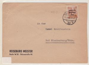 Germany Soviet Zone 1948 Berlin to Bad Blankenburg stamps cover  R20748