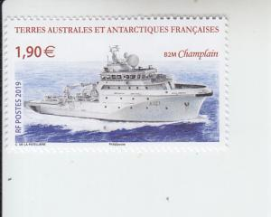 2019 FSAT Fr Antarctic The Champlain Ship (Scott 607) MNH