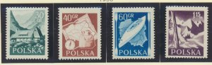 Poland Stamps Scott #729 To 732, Mint Hinged - Free U.S. Shipping, Free World...