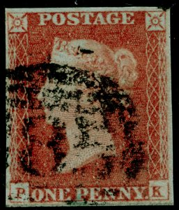 SG8, 1d red-brown PLATE 78, FINE USED. Cat £30. PK