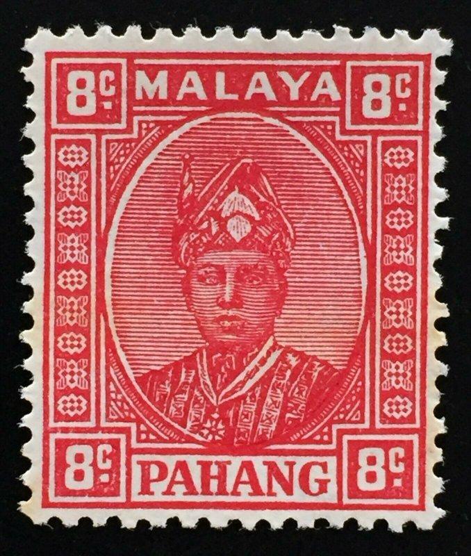 Malaya Pahang 1941 Sir Abu Bakar 8c MLH SG#36 M2209