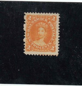 NEW BRUNSWICK (MK4608)  # 7  FVF-MNG  2cts 1863  VICTORIA /ORANGE CAT VALUE $20
