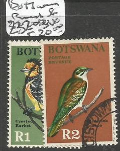 Botswana Birds SG 232-3 VFU (3cum)