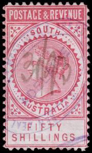 South Australia Scott 87a (1886) Used H F-VF, CV $800.00 M