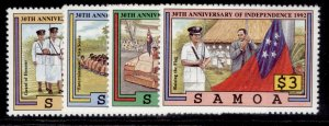 SAMOA QEII SG872-875, 1992 anniv of independence set, NH MINT.