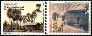 HERRICKSTAMP PARAGUAY Sc.# 2822-23 Adolfo Rojas Silva