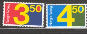 NORWAY 903-904 MNH NUMBERS SET 1987