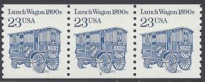 #2464 23c Lunch Wagon 1890s PNC/3 #2 1991 Mint NH
