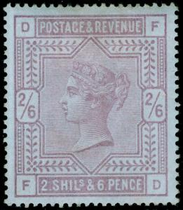 SG175, 2s 6d lilac, LH MINT. Cat £6750. BLUED PAPER. BPA CERT. FD