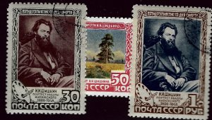 Russia SC#1230, 1231 & 1233 Used VF SCV$34.50...Worth a Close Look!!