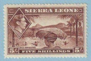 SIERRA LEONE 183 MINT LIGHTLY HINGED OG * NO FAULTS EXTRA FINE !