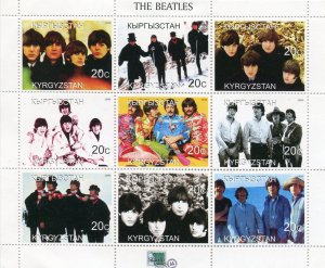 Kyrgyzstan 1999 THE BEATLES Sheet Perforated Mint (NH)