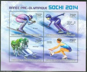 CENTRAL AFRICA  2013 SOCHI 2014 OLYMPIC ISSUE SHEET MINT NH