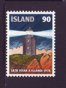 Iceland Sc 514 1978 Lighthouse stamp mint NH