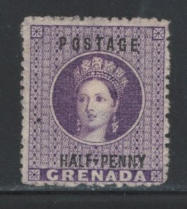 Grenada 1881 Queen Victoria Surcharge 1/2p Scott # 8 MH NG