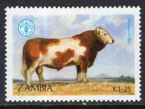 Zambia 419 Cattle Cow MNH VF