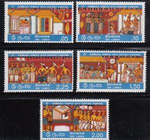 Sri Lanka, Sc 501-505, MNH, 1976, Bambava Temple, (LL00956)