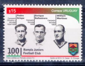 SOCCER WORLD CUP CHAMPION 1930 & 1950 URUGUAY FOOTBOLLER LEGENDS MNH STAMP