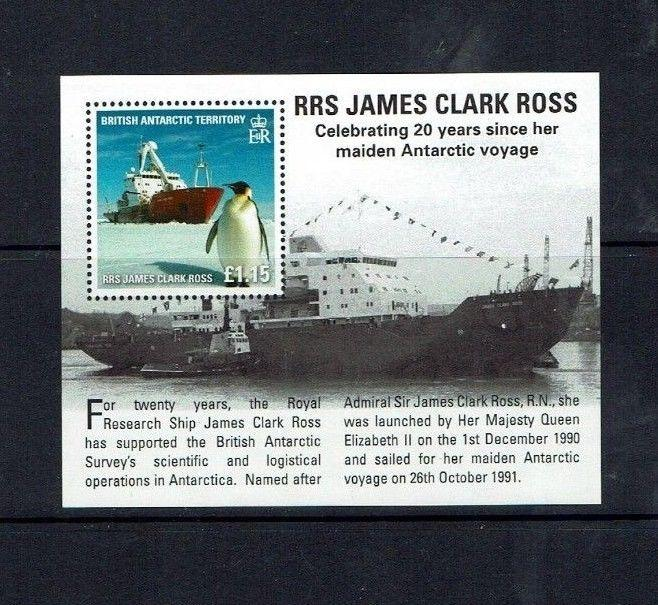 British Antarctic Territory:  2011, Research Ships, Self adhesive set + m/s