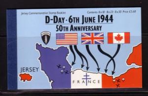 Jersey  671a//675b 1994 D-Day stamp booklet mint NH