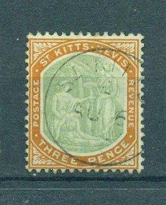 St. Kitts & Nevis sc# 5 used cat value $32.50