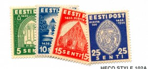 ESTONIA  134-37  MNH