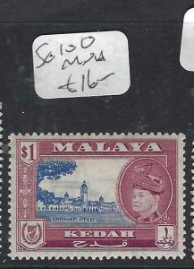 MALAYA KEDAH  (PP1602B)  SULTAN $1.00  SG 100  MNH