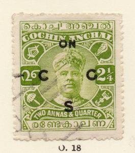 Cochin 1919-33 Early Issue Fine Used 2.25a. Optd 268173
