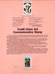 US SP639 Credit Union 2075 Souvenir Page FDC