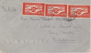 Portugal 1.75E Symbol of Aviation (3) 1940 Corro. e Telo., Sintra Airmail to ...