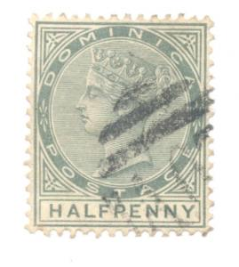 Dominica Sc 17 1886 1/2d green Victoria stamp used
