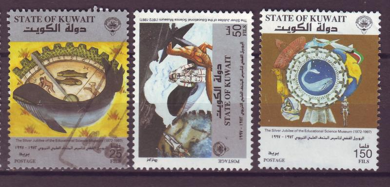 J14971 JLstamps 1997 kuwait set used #1379-81 whale