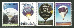 Guyana MNH Set Hot Air Balloons 26th Anniversary Of Greenpeace