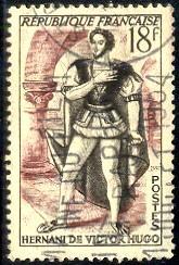 Hernani of Victor Hugo, Author, France stamp SC#691 used