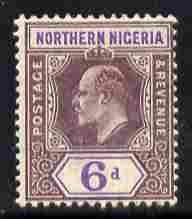 Northern Nigeria 1905-07 KE7 MCA 6d dull purple & vio...