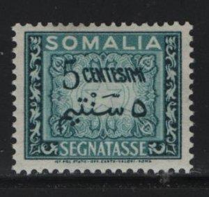 SOMALIA, J57, HINGED, 1950, SOMALIA, POSTAGE DUE STAMPS